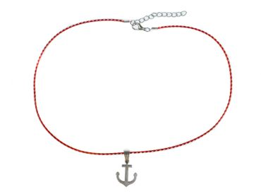 Anchor Necklace Miniblings 45cm Maritim Sea Cord Boat Lake 3cm – Bild 2