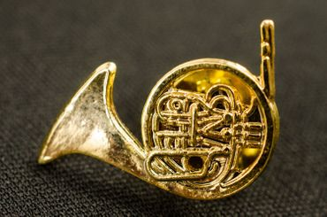 Horn Brooch Pin Badge Miniblings Wind Instrument Orchestra Horn Golden Mini – Bild 3