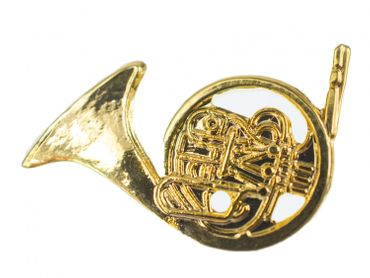Horn Brooch Pin Badge Miniblings Wind Instrument Orchestra Horn Golden Mini – Bild 1