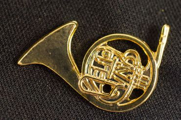 Horn Brooch Pin Badge Miniblings Wind Instrument Orchestra Horn Golden Mini – Bild 4