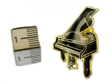 Grand Piano Brooch Pin Badge Miniblings Grand Piano Classical Piano Wings Gold – Bild 2