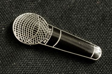 Microphone Brooch Pin Badge Miniblings Hip Hop Rap Mc Micro Black – Bild 5