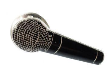 Mikrofon Brosche Miniblings Pin Anstecker Musik HipHop Rap MC Mikro schwarz – Bild 1