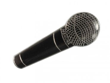 Mikrofon Brosche Miniblings Pin Anstecker Musik HipHop Rap MC Mikro schwarz – Bild 2