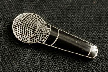 Mikrofon Brosche Miniblings Pin Anstecker Musik HipHop Rap MC Mikro schwarz – Bild 5