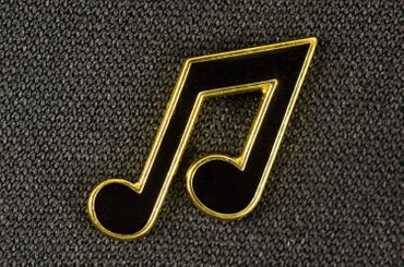 Notes Brooch Pin Badge Miniblings Music Eighth Quarter-Note Black Gold – Bild 5