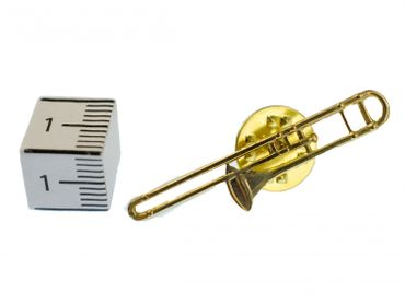 Trombone Brooch Pin Badge Miniblings Orchestral Instrument Eld Mini – Bild 3