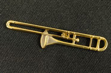 Trombone Brooch Pin Badge Miniblings Orchestral Instrument Eld Mini – Bild 4