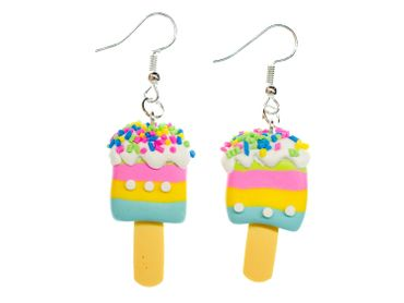 IPopsicle Ice Lollies Earrings Miniblings Ice Cream Summer Fruit Colorful Stripes – Bild 1