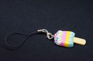 Eis am Stiel Handyanhänger Miniblings Handyschmuck Sommer Frucht Streifen Urlaub – Bild 4