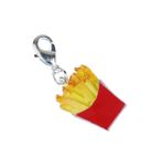 French fries Charm Zipper Pull Pendant For Bracelet Wristlet Miniblings fast Food fish and chips potato