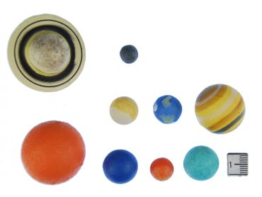 9 pcs Planet Figure Figures figurines Monoblocks Miniblings Rubber Planet Earth sun mars Solar System – Bild 2