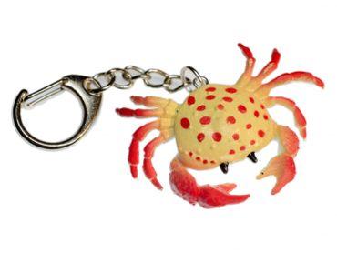Krebs Schlüsselanhänger Miniblings Anhänger Ozean Schalentier Krabbe gelb rot – Bild 1