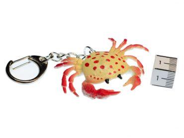 Krebs Schlüsselanhänger Miniblings Anhänger Ozean Schalentier Krabbe gelb rot – Bild 2