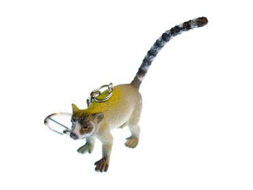 Lemur Schlüsselanhänger Miniblings Anhänger Katta Madagaskar Affe Äffchen grau – Bild 1
