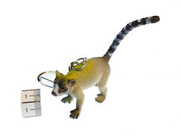 Lemur Schlüsselanhänger Miniblings Anhänger Katta Madagaskar Affe Äffchen grau – Bild 2