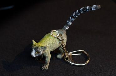 Lemur Schlüsselanhänger Miniblings Anhänger Katta Madagaskar Affe Äffchen grau – Bild 3