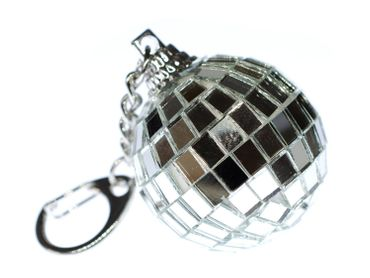 Mirror Ball Key Chain Key Ring Miniblings Supporters Club Disco Mirror Ball – Bild 2