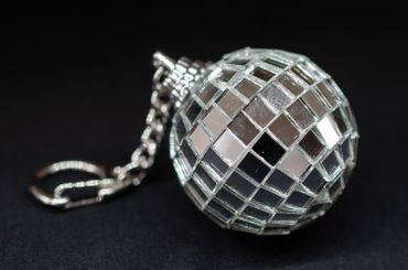 Mirror Ball Key Chain Key Ring Miniblings Supporters Club Disco Mirror Ball – Bild 3