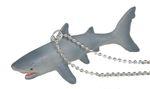 Hai Kette Halskette Miniblings 80cm silber Meerestier Haifisch weisser Hai grau