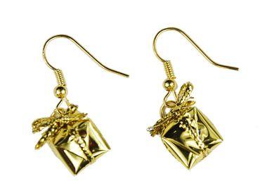 Geschenk Ohrringe Miniblings Geschenke Weihnachten Päckchen Bescherung gold – Bild 1