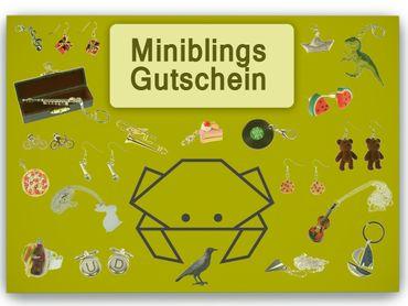 Miniblings Geschenkgutschein Gutschein Geschenk Wertmarke Schmuck 50Euro