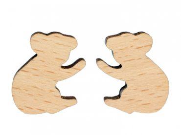 Koala Ohrstecker Miniblings Stecker Ohrringe Outback Australien Beuteltier Holz – Bild 1