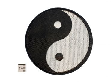 Yin Yang Patch Hotfix Iron On Application Iron On Motif Miniblings Sign Black And White 9 5 cm – Bild 2