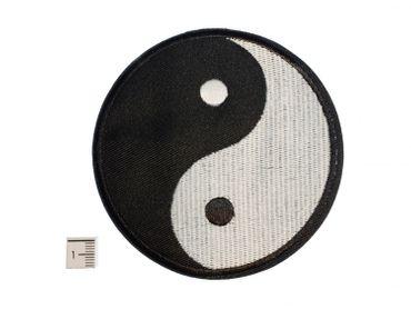 Yin Yang Bügelbild Aufnäher Aufbügler Miniblings Zeichen schwarz weiß 9cm – Bild 2