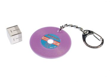 Record Key Chain Key Ring Music Records Miniblings Key Ring Dj Music Purple – Bild 2