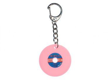 Record Key Chain Key Ring Music Records Miniblings Pendant Pink Key Ring Dj Music – Bild 1