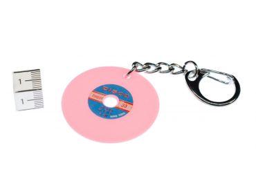 Record Key Chain Key Ring Music Records Miniblings Pendant Pink Key Ring Dj Music – Bild 2