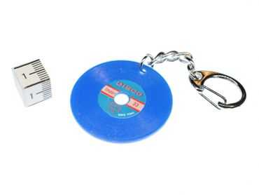 Record Key Chain Key Ring Music Records Miniblings Key Ring Dj Music Blue – Bild 2