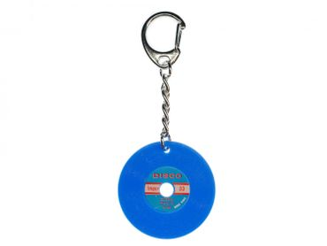 Record Key Chain Key Ring Music Records Miniblings Key Ring Dj Music Blue – Bild 1