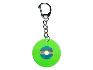 Record Key Chain Key Ring Music Records Miniblings Key Ring Dj Music Green – Bild 1