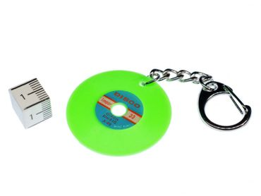 Record Key Chain Key Ring Music Records Miniblings Key Ring Dj Music Green – Bild 2