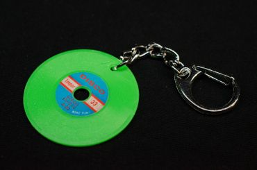 Record Key Chain Key Ring Music Records Miniblings Key Ring Dj Music Green – Bild 3