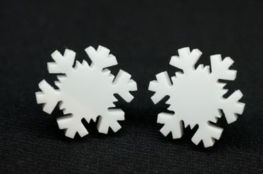 Snowflake Earrings Ear Studs Earstuds Miniblings Snow Winter Ice Crystal – Bild 3