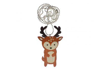 Deer Necklace Miniblings 80cm Tierwald Natural Wilderness Deer Fallow Deer – Bild 1