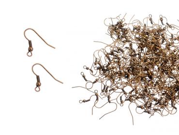 Earrings Making 300 Ear Hook Blanks Miniblings Fishhooks DIY Copper – Bild 1