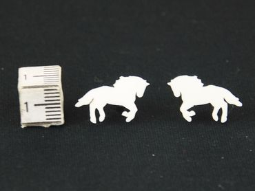 Horse Earrings Ear Studs Earstuds Earrings Miniblings Animal Rider Mold Equestrian Horse Hoofed – Bild 3