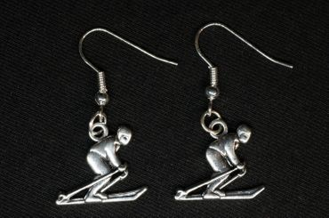 Skiers Earrings Kiohrringe Skis Ski Poles Miniblings Winter Ski Earrings S – Bild 3