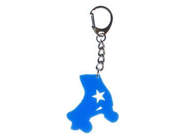 Rollschuh Schlüsselanhänger Miniblings blau Inline-Skates Rollschuhe – Bild 1