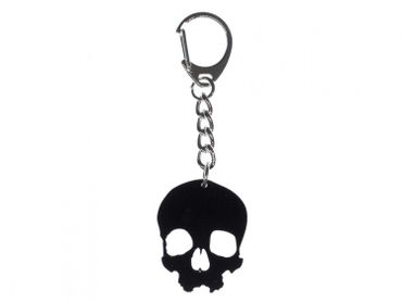 Skull Key NecklaceKey Ring Miniblings Acrylic Black Large Gothic Halloween – Bild 1