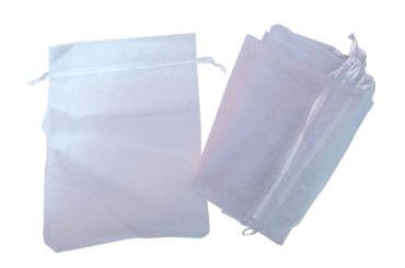 10x Organzasäckchen Organzabeutel Miniblings Organza Geschenktüte weiß 20x30 XL – Bild 2