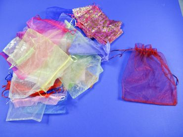 40X Organza Bag Organza Bags Miniblings Gift Bag Wrapping Mixed Colours different sizes – Bild 3
