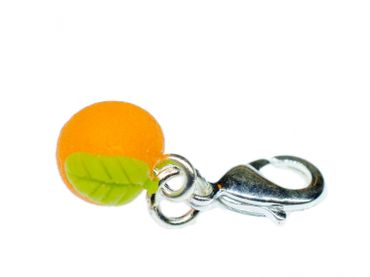 Orange Charm For Bracelet Wristlet Dangle Charms Miniblings lemon lemonade fruits food Fruit 3D – Bild 1