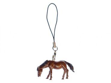 Pferd Handyanhänger Miniblings Pferde Handyschmuck Anhänger Pony Reiten braun – Bild 1