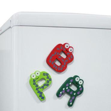 Buchtaben Magnet Kühlschrankmagnet Initialen ABC Schule Buchstabe Alphabet – Bild 3