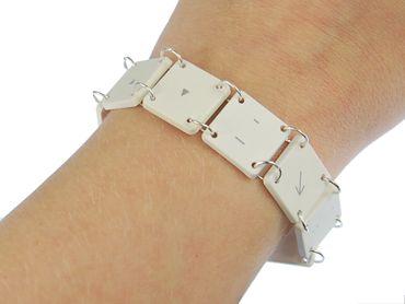 keyboard key Bracelet Wristlet Dangle Upcycling Recycling Miniblings Vintage 9 Characters Computer Arrow – Bild 5